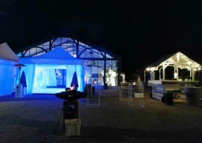 SOIREE ANNUELLE d'un service financier - installations de tentes et décors extérieurs - Challenger Event Poitiers
