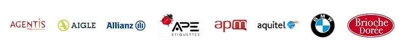 partenaires CHALLENGER EVENT : agentis, aigle, allianz, APE, apm, aquitel, BMW, Brioche Dorée