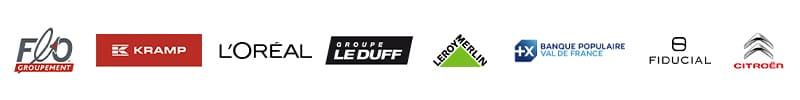 partenaires CHALLENGER EVENT : Flo groupement, KRAMP, L'OREAL, Groupe Le Duff, Leroy Merlin, Banque Populaire, Fiducial, Citroën