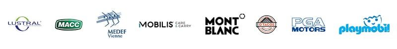 partenaires CHALLENGER EVENT : Lustral, MACC, MEDEF, MOBILIS, Mont Blanc, O'Tacos, PGA MOTORS, playmobil